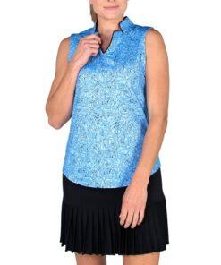 Jofit Women's Sleeveless Anchor Collar Top