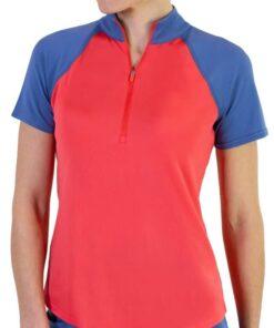 Jofit Women's Short Sleeve Zip Mock